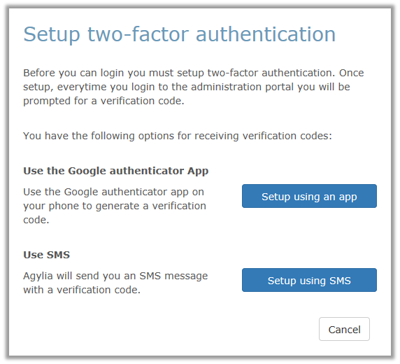 How To: Use two-factor authentication – Agylia Support